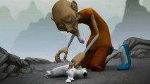 Le moine et le petit perturbateur