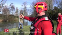 video exercice inondation auch pompiers