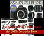 Canon EOS 5D MARK II + Canon EF 28-135mm Lens + Canon EF 75-300mm UltraSonic Lens + Canon 50mm Lens +500mm Preset Lens + 650-1300mm Lens + .40x Fisheye Lens + 2x Telephoto Lens + 3 Year Celltime Warranty Repair Contract