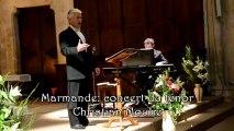 Marmande : Concert du ténor Christian Moulié