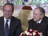 Le président français François Hollande a entamé mercredi en Algérie une visite d'Etat de 36 heures avec la volonté d'ouvrir une nouvelle page dans les relations politique et économique entre les deux pays