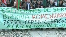 Gasolineras de Bizkaia, preparadas para la huelga