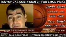 Atlanta Hawks versus Oklahoma City Thunder Pick Prediction NBA Pro Basketball Odds Preview 12-19-2012