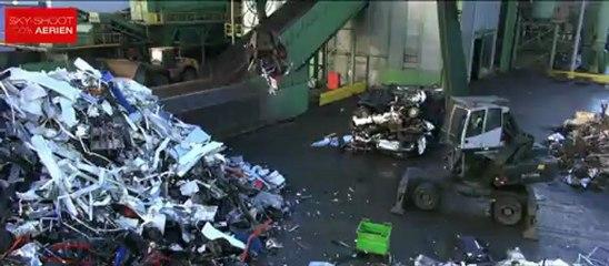 Recyclage du métal filmé en Drone