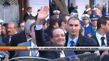 Algérie: François Hollande rend hommage à Maurice Audin