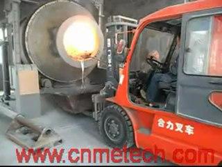 cold aluminum dross processing or mass hot aluminum dross processing system---tilting rotary furnace