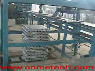aluminum alloy ingot(ADC12) production line operation video