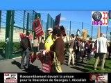Le comité libérons Georges 33 a manifesté  devant le siège du Parti Socialiste