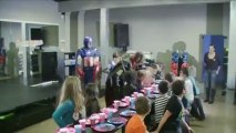 Captain America & Captain Harlock at a birthday party (22/12/2012)