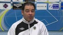 Conférence de presse Tours FC - Angers SCO : Bernard BLAQUART (TOURS) - Stéphane MOULIN (SCO) - saison 2012/2013