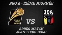 Réactions de Jean-Louis Borg - J12 - Réception de la JDA Dijon
