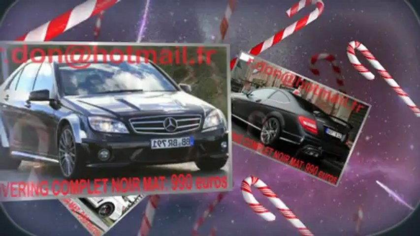 Mercedes Classe C, Mercedes Classe C, essai video Mercedes Classe C, covering Mercedes Classe C, Mercedes Classe C peinture noir mat