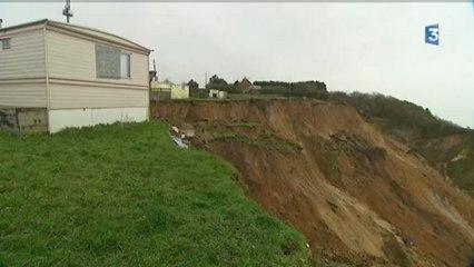 Pourville sur Mer (76) une maison engloutie par la falaise