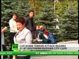 Dozens injured as car bomb blast hits cafe in southern Russia
