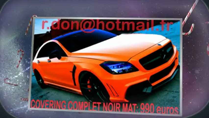 Mercedes CLS, Mercedes CLS, essai video Mercedes CLS, covering Mercedes CLS, Mercedes CLS peinture noir mat