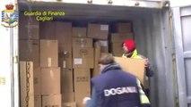 Cagliari - Sequestro di profumi contraffatti al porto (22.12.12)