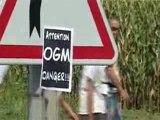 Fauchage OGM avec José Bové (Miradoux Gers 19 Août 2006)