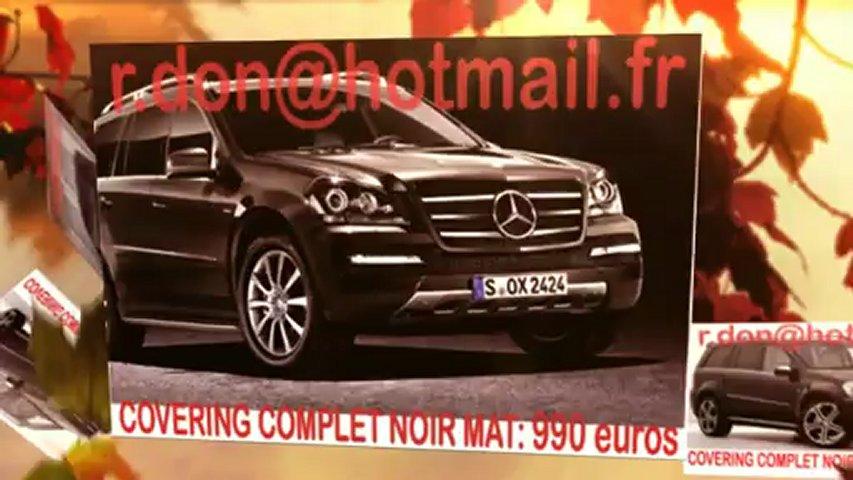 Mercedes GL, Mercedes GL, essai video Mercedes GL, covering Mercedes GL, Mercedes GL peinture noir mat