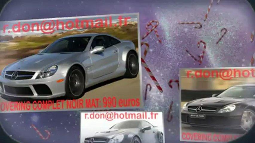 Mercedes SL, Mercedes SL, essai video Mercedes SL, covering Mercedes SL, Mercedes SL peinture noir mat
