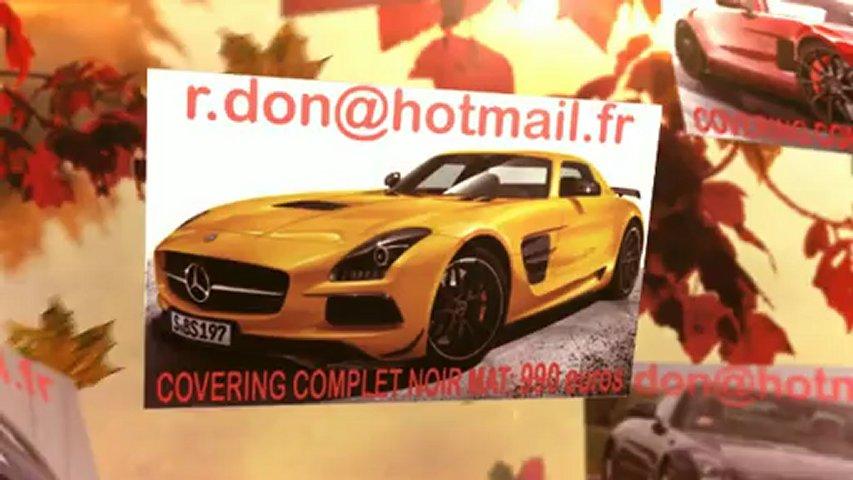 Mercedes SLS, Mercedes SLS, essai video Mercedes SLS, covering Mercedes SLS, Mercedes SLS peinture noir mat