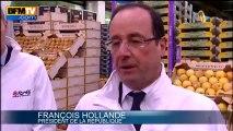 Les styles Hollande et Sarkozy à Rungis