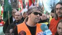 Trabajadores de gasolineras se manifiestan en Bilbao