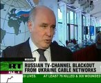 Ukraine takes Russian channels off air