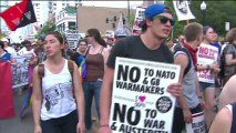 Violent demonstrations outside Chicago's NATO meetings