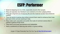 ESFP: Performer -- Jung 16 Personality Types Test Results