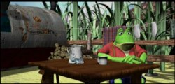 Mr Frog goes fishing
