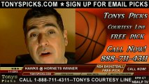 New Orleans Hornets versus Atlanta Hawks Pick Prediction NBA Pro Basketball Odds Preview 1-1-2013