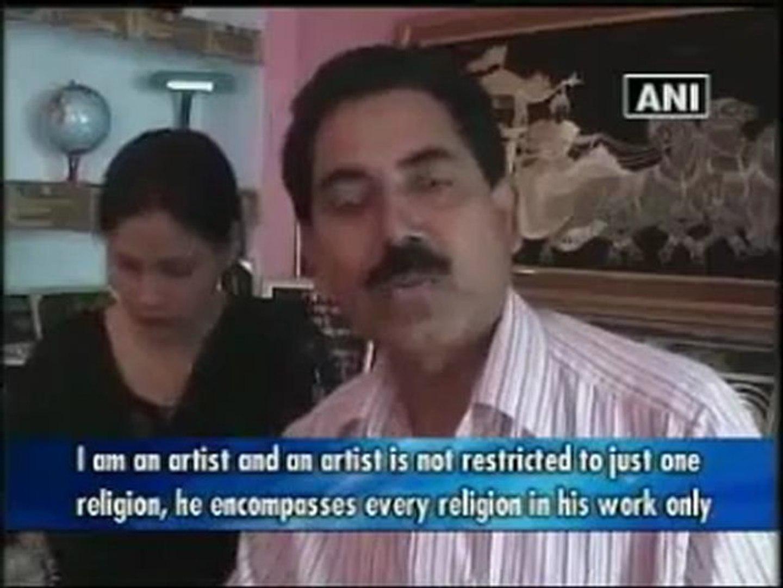 Muslim couple art breaks religious barriers.mp4