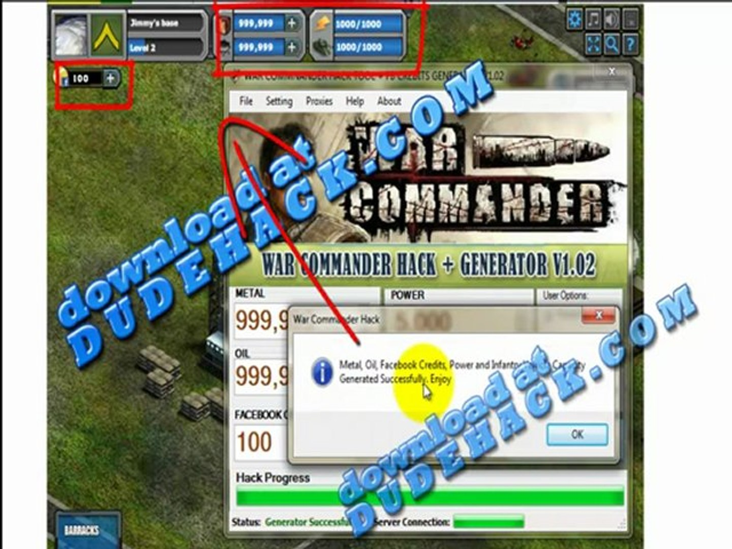 War Commander Cheat Engine for unlimited FB Credits and Metal - Functioning War Commander Cash Cheat