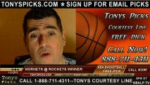 Houston Rockets versus New Orleans Hornets Pick Prediction NBA Pro Basketball Odds Preview 1-2-2013