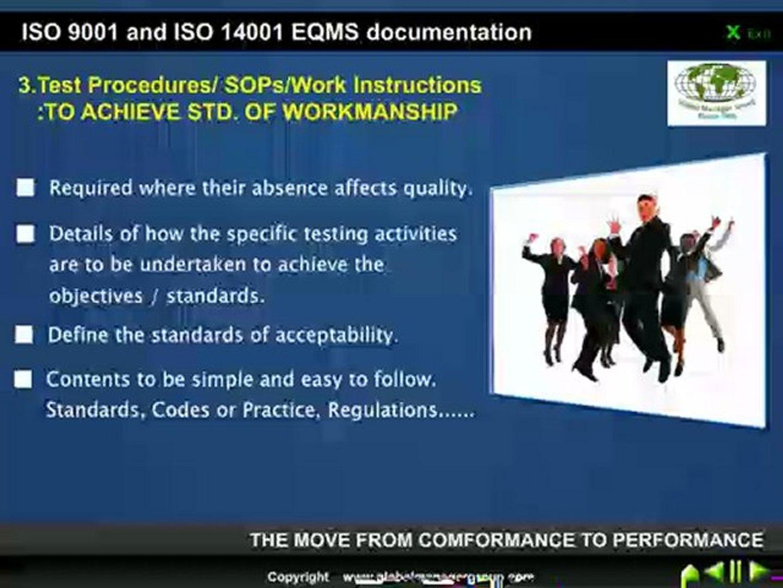 Work Instruction for ISO 9001 14001 IMS documentation