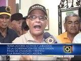 Trabajadores de la Gobernación del Zulia exigen pago de utilidades y respeto a la inamovilidad laboral