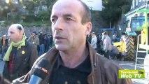"""A Tulle, la Confédération paysanne demande à Jean-Marc Ayrault et François Hollande de """"sauver l'élevage"""""""