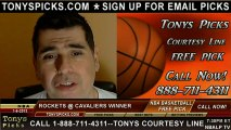 Cleveland Cavaliers versus Houston Rockets Pick Prediction NBA Pro Basketball Odds Preview 1-5-2013
