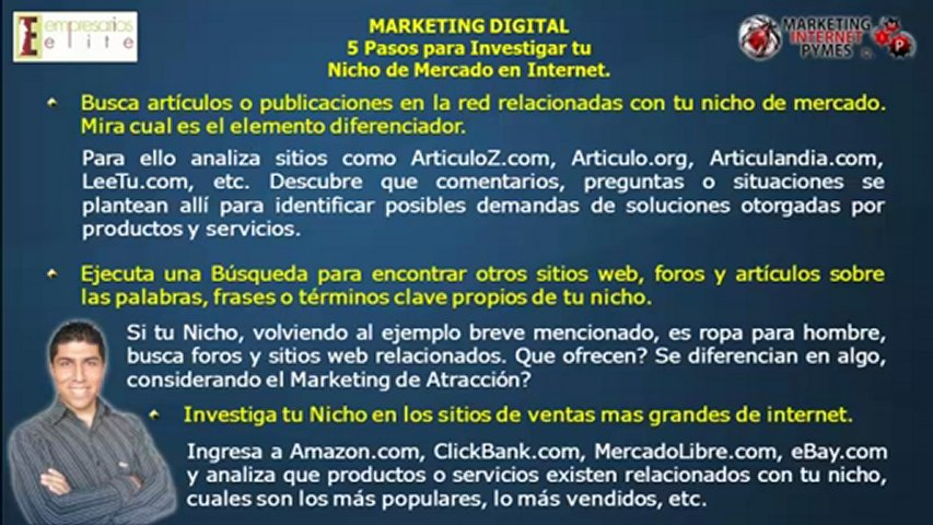 MARKETING DIGITAL: 5 Pasos para Investigar tu Nicho en Internet – Marketing Internet Pymes ©