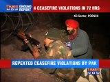 4 ceasefire violations in 72 hours