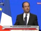 """Mariage pour tous : François Hollande invoque """"la liberté de conscience"""" des maires"""