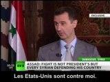 """""""Pas de guerre civile"""" en Syrie, selon Bachar Al-Assad"""
