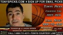 LA Lakers versus Oklahoma City Thunder Pick Prediction NBA Pro Basketball Odds Preview 1-11-2012