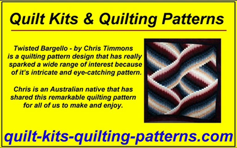 Quilt Kits – Quilting Patterns – Twisted Bargello – 3D Quilt – Stuff It Quilt – Chris Timmons