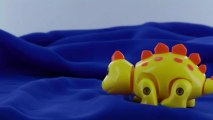 Jouet mécanique automate dinosaure jaune