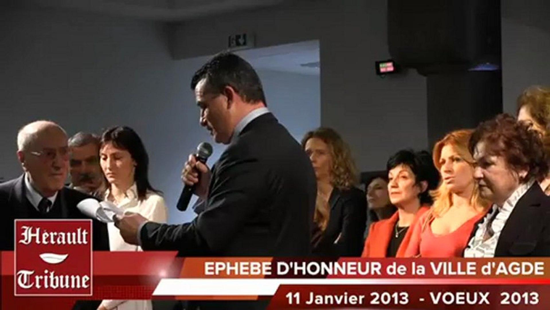 AGDE - 2013 - 13 Agathois à l'Honneur pour l'année 2013 lors des Voeux Municipaux