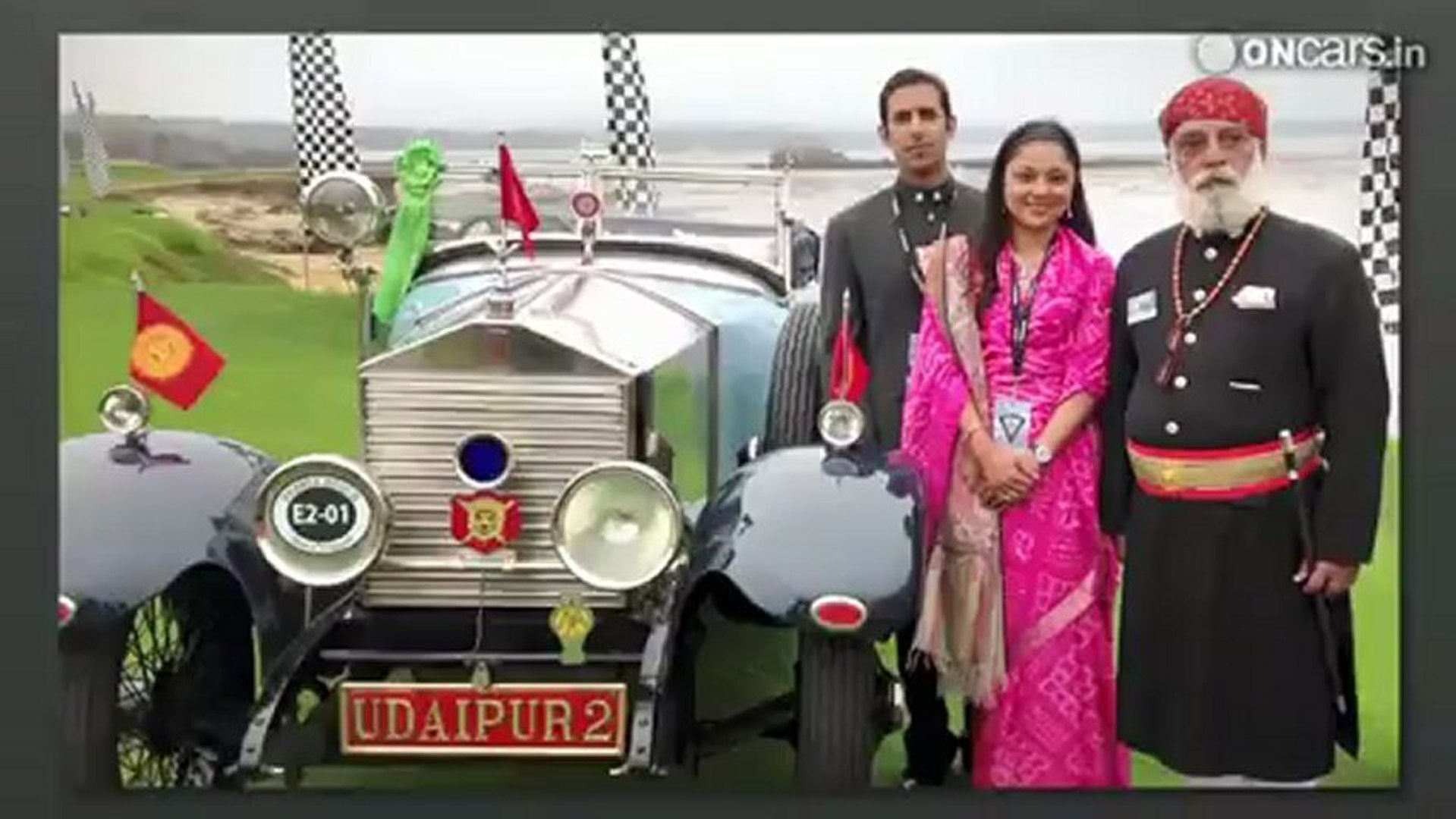 1924 Rolls Royce 20 HP from Udaipur wins trophy at the Pebble Beach Concours d'Elegance.mp4