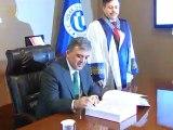 Cumhurbaşkanı Gül, Uşak Üniversitesi Rektörlüğünü Ziyaret Etti