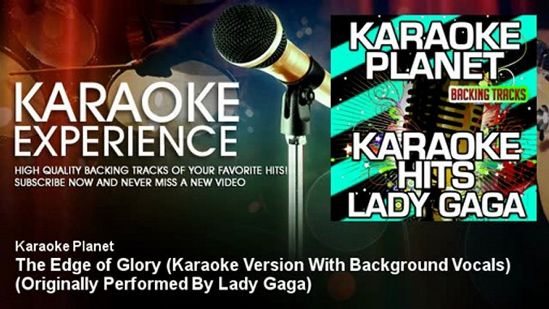 A-Type Player - The Edge of Glory (Karaoke Version With Background Vocals)