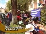 Cusco Trabajadores de Municipalidad de Santiago exigen aumento de sueldos